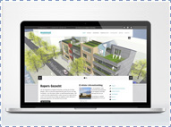 Hey Wonen Website: de homepage op een laptop.
