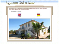 Vakantievilla Quinta Sol-e-Mar, Website intro.