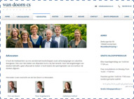 Van Doorn CS Advocaten website met de 6 advocaten.