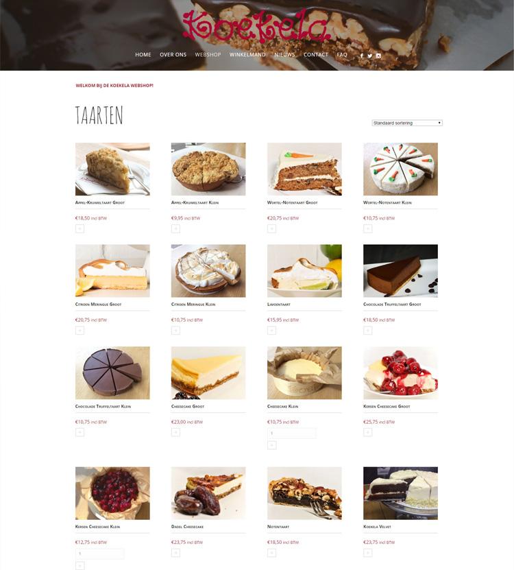koekela taart Website design koekela taart