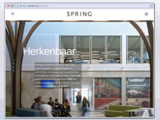 Spring Architecten website